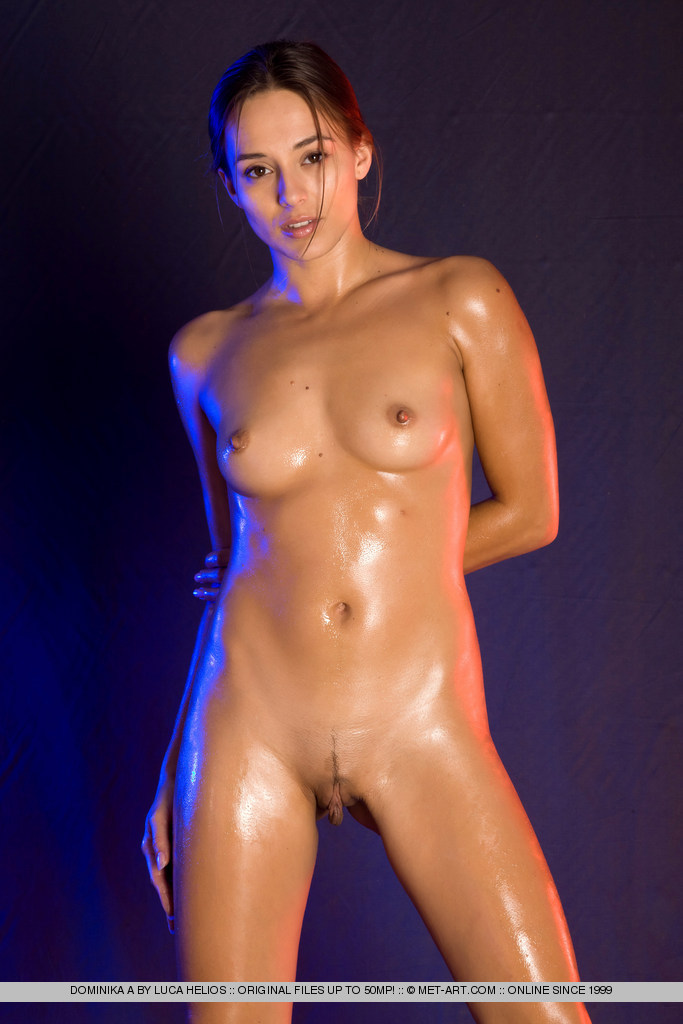 Oiled nude body