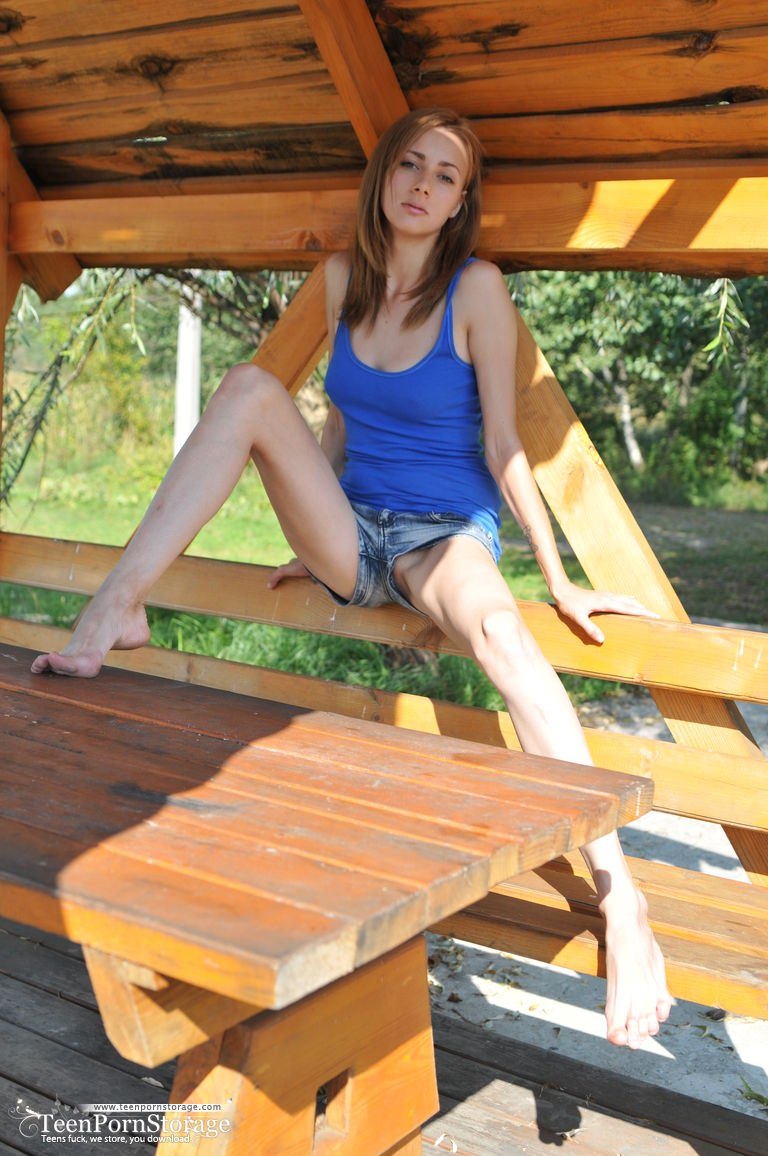 Sorry, not Sexy teen on a picnic table